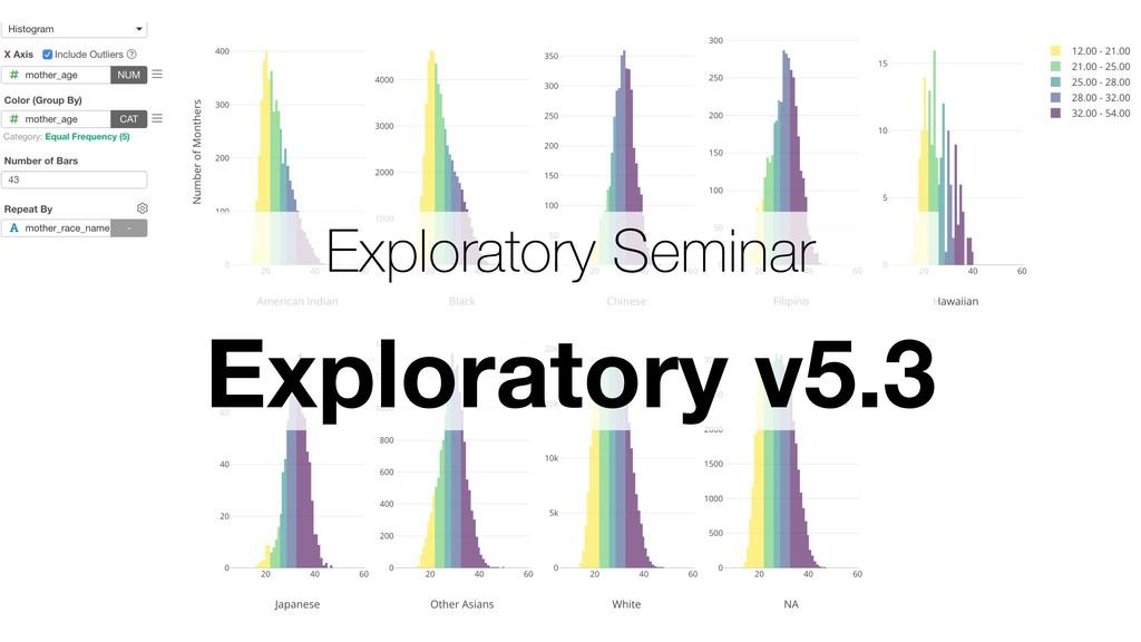 Exploratory Seminar Exploratory v5.3