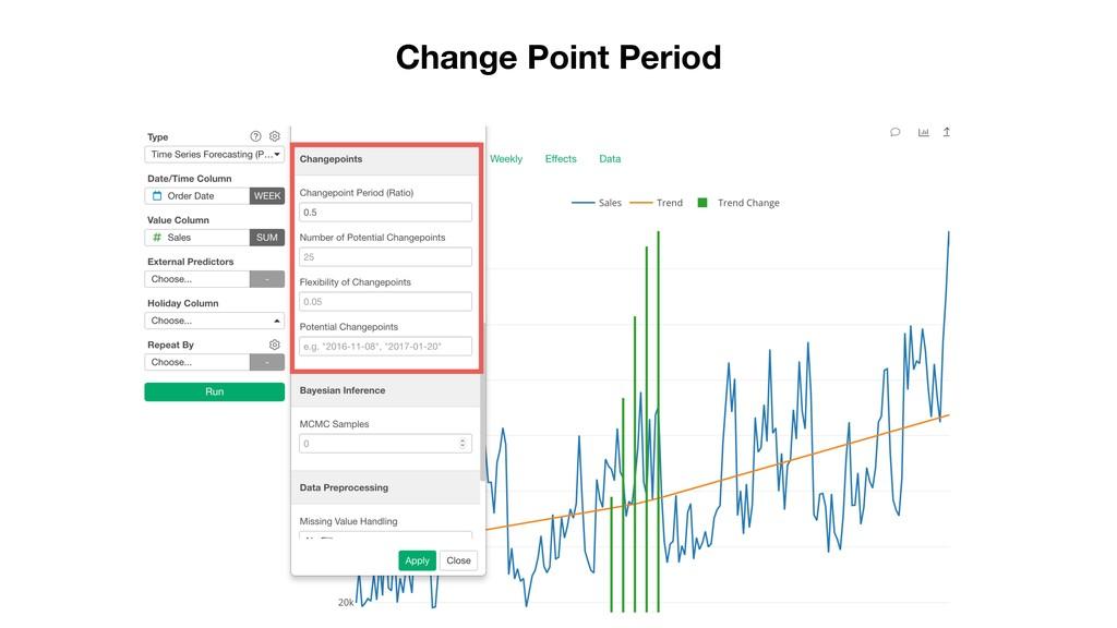 Change Point Period