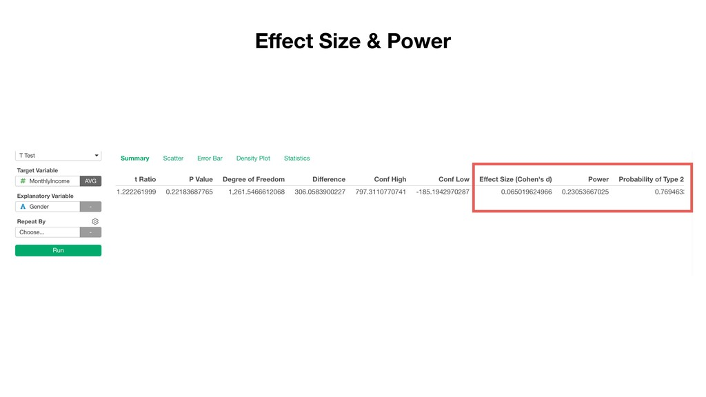 Effect Size & Power