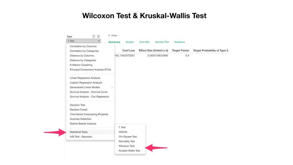 Wilcoxon Test & Kruskal-Wallis Test