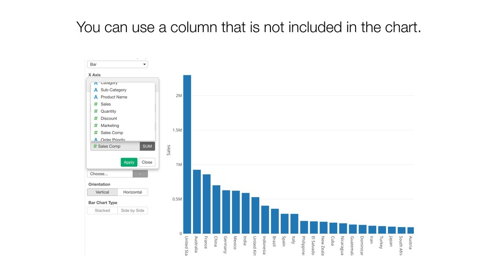 You can use a column that is not included in th...