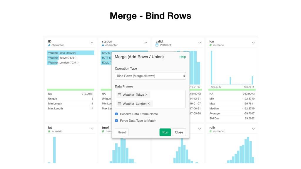 Merge - Bind Rows