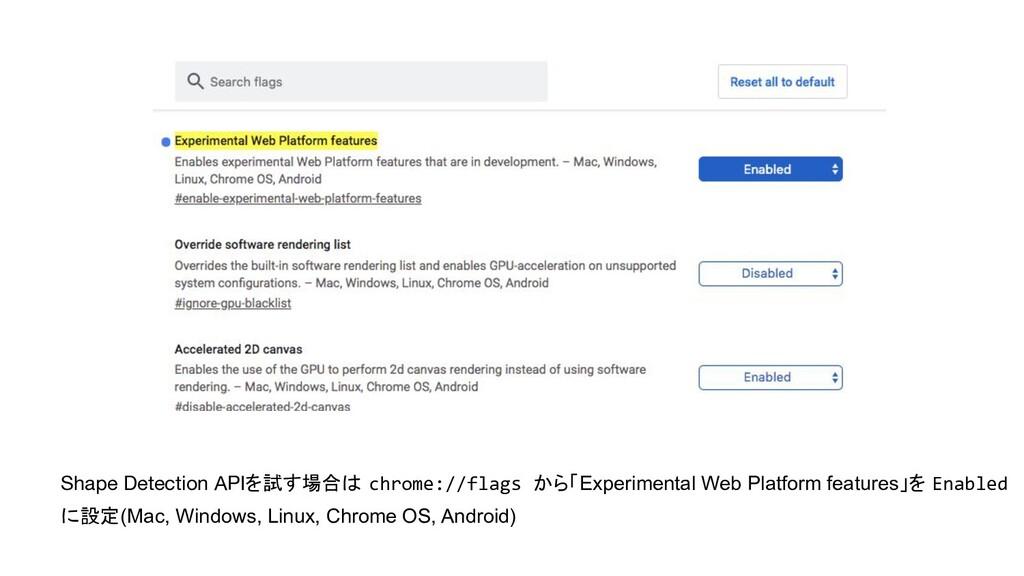 Shape Detection APIを試す場合は chrome://flags から「Exp...