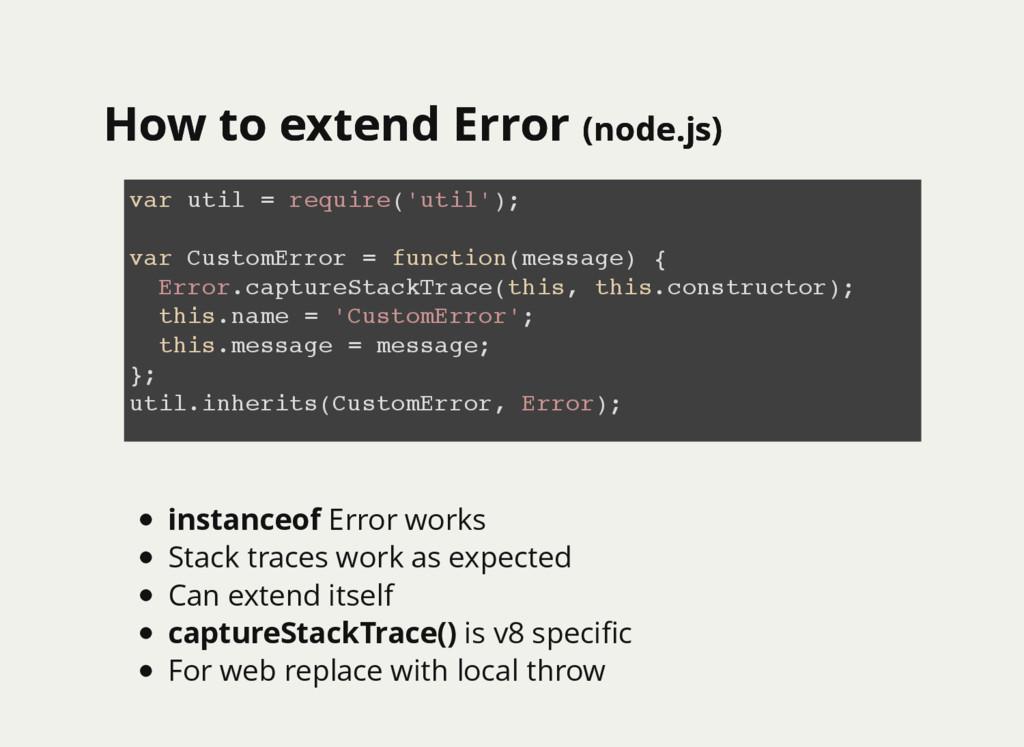 How to extend Error How to extend Error (node.j...
