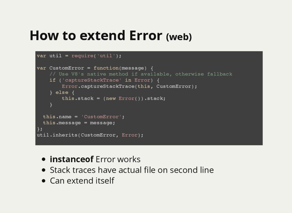 How to extend Error How to extend Error (web) (...