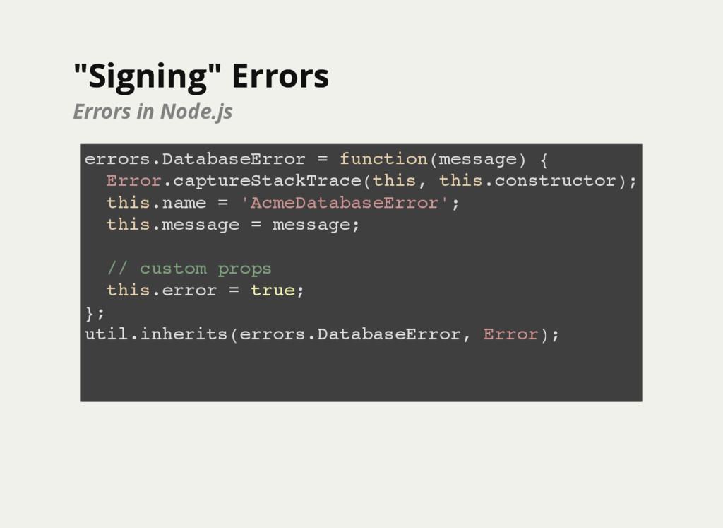 """Signing"" Errors ""Signing"" Errors Errors in Nod..."
