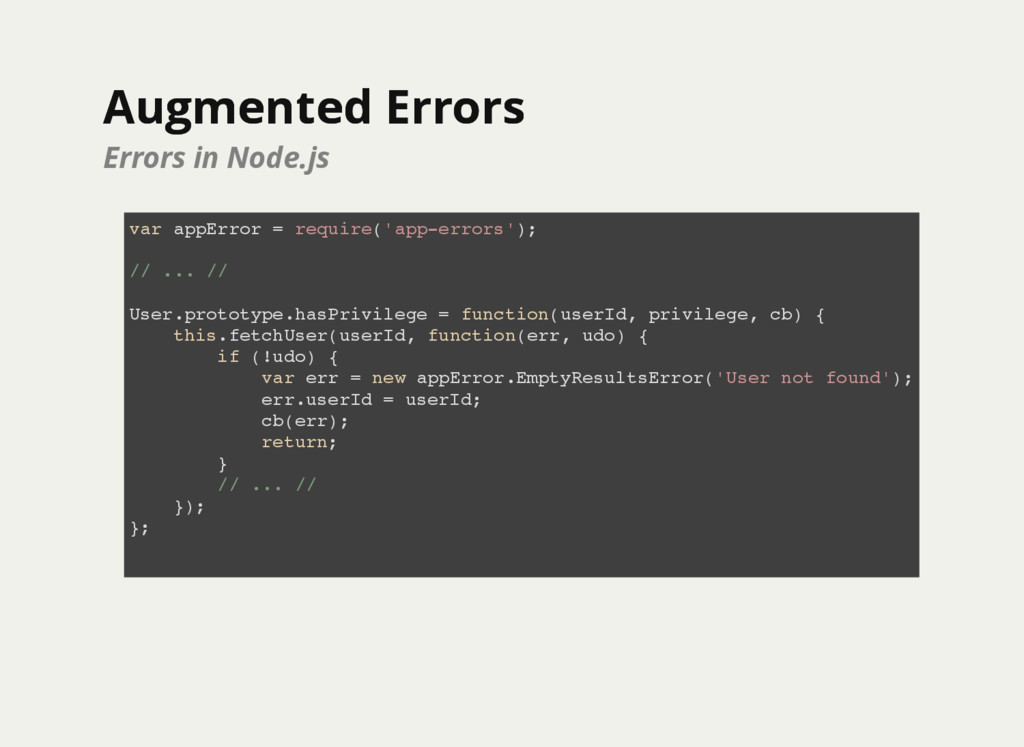 Augmented Errors Augmented Errors Errors in Nod...