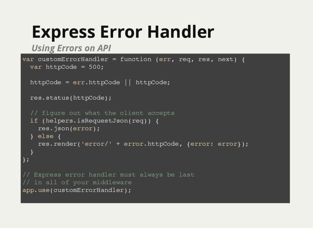 Express Error Handler Express Error Handler Usi...