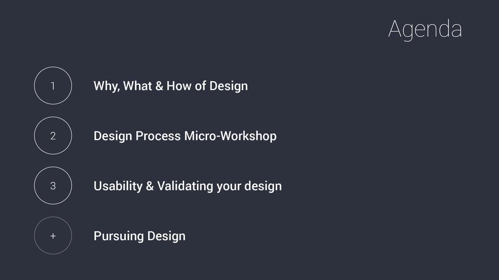 Agenda 1 Why, What & How of Design 2 Design Pro...
