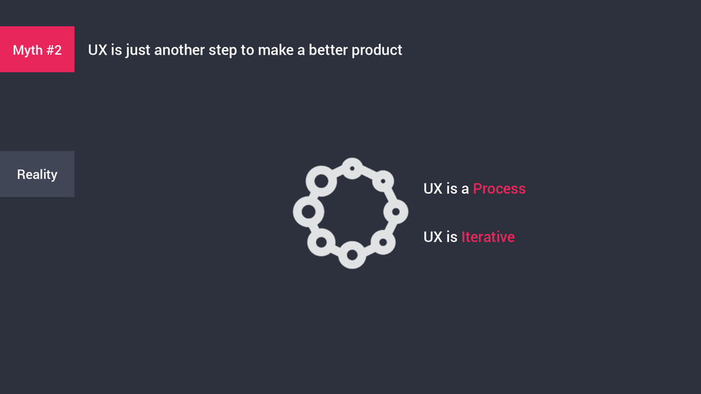 Myth #2 UX is just another step to make a bette...