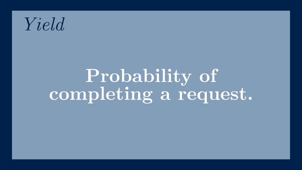 Probability of completing a request. Yield