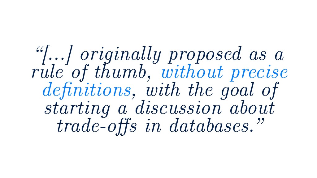 """""""[…] originally proposed as a rule of thumb, wi..."""