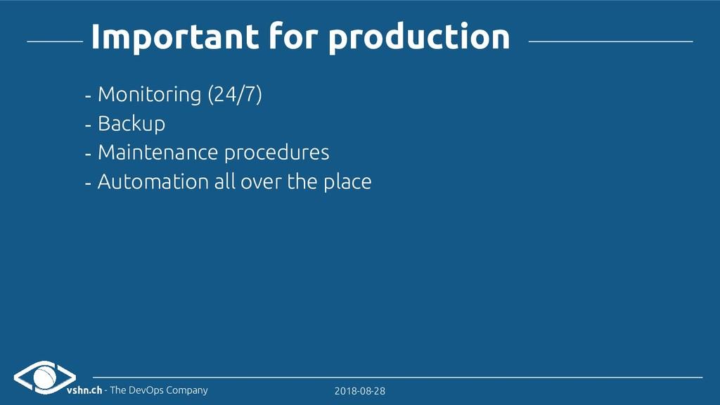 vshn.ch - The DevOps Company 2018-08-28 Importa...