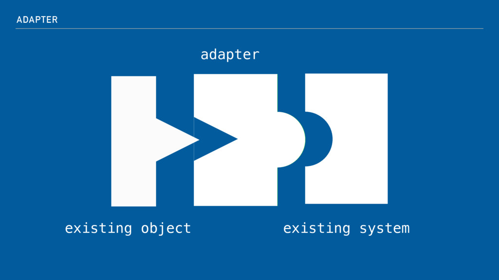 ADAPTER existing object existing system adapter