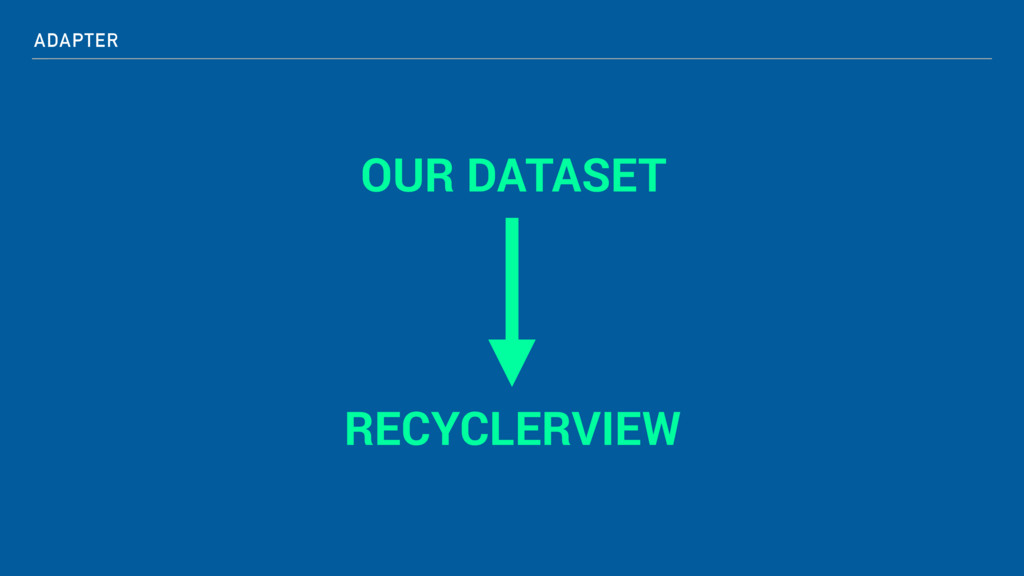 ADAPTER OUR DATASET RECYCLERVIEW