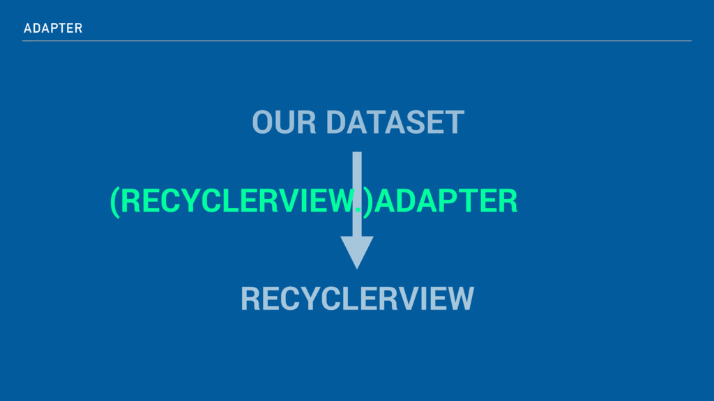 ADAPTER OUR DATASET RECYCLERVIEW (RECYCLERVIEW....