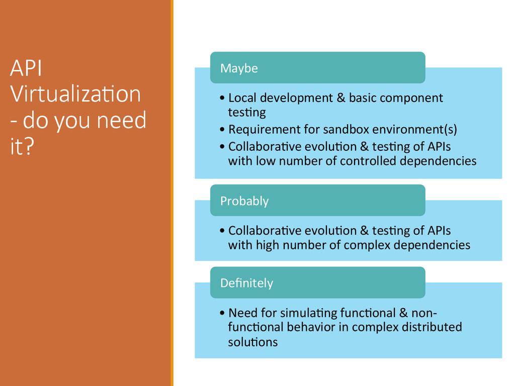 API  VirtualizaIon  -‐ do you need  it?...