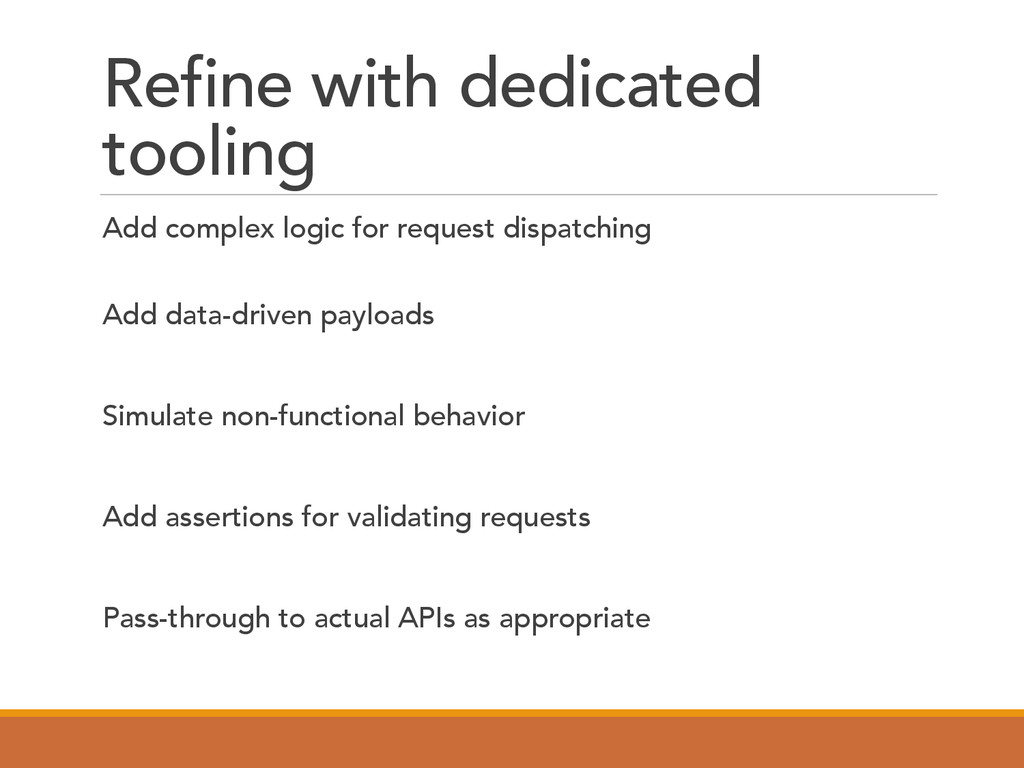 Refine with dedicated tooling  Add complex ...