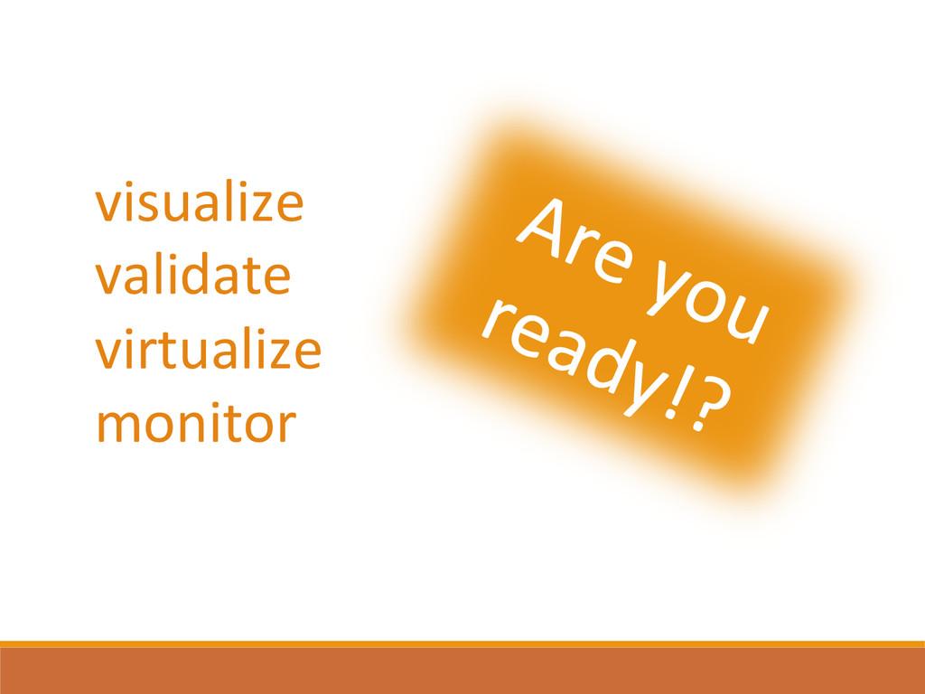 visualize  validate  virtualize  monit...
