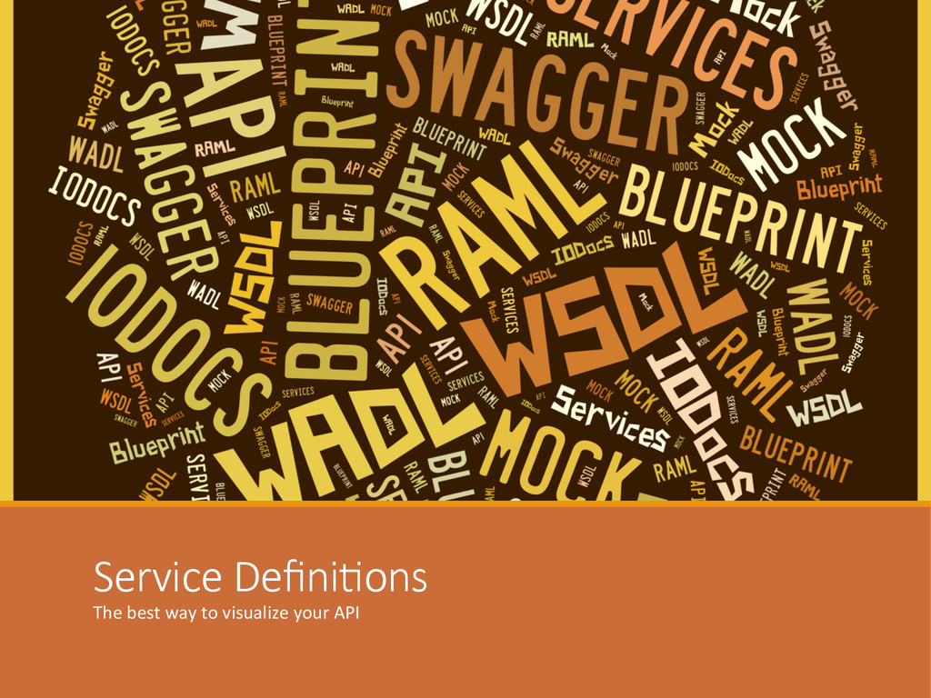 Service DefiniIons The best way to ...
