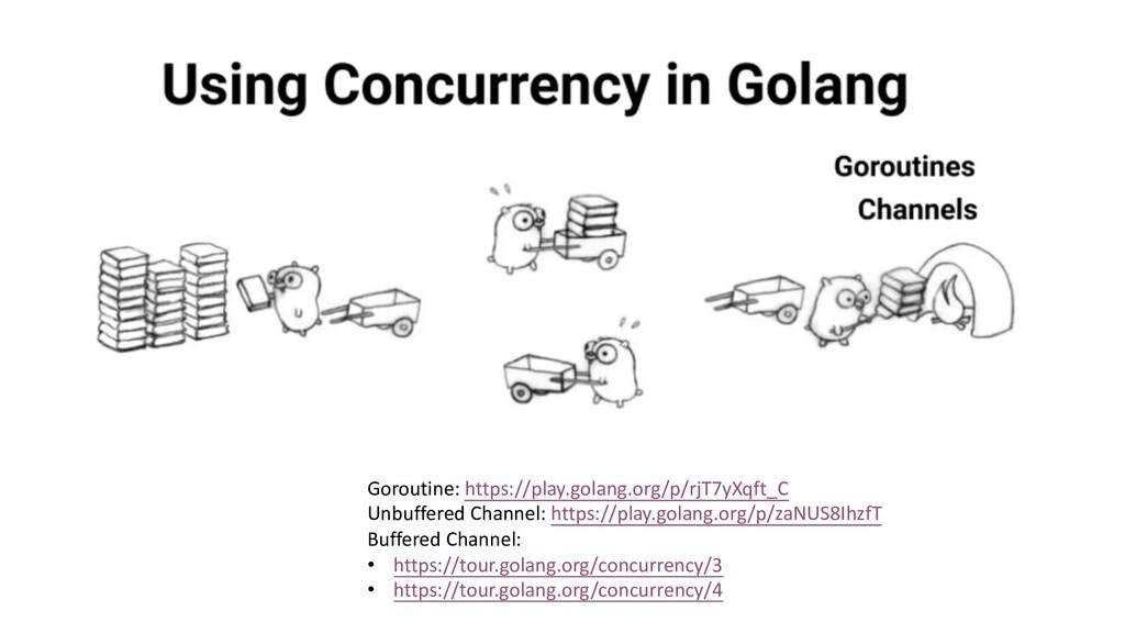 Goroutine: https://play.golang.org/p/rjT7yXqft_...