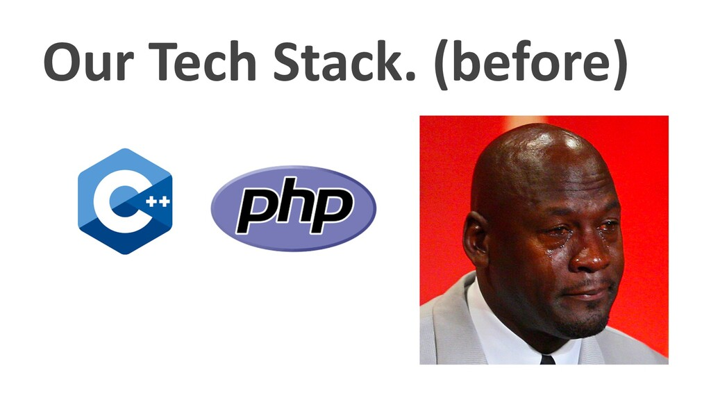 Our Tech Stack. (before)