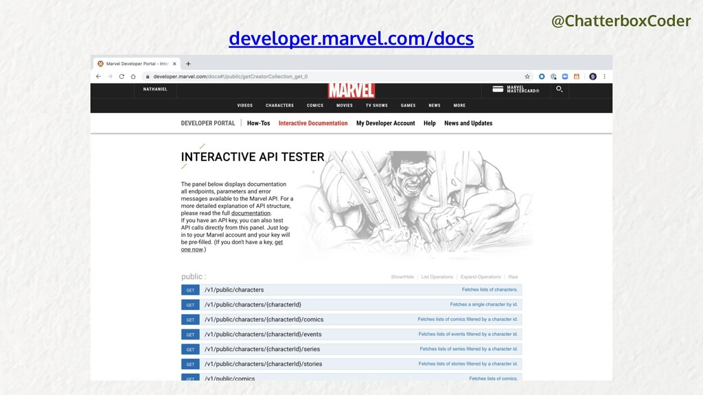 @ChatterboxCoder developer.marvel.com/docs