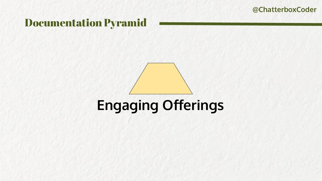 @ChatterboxCoder Documentation Pyramid Engaging...