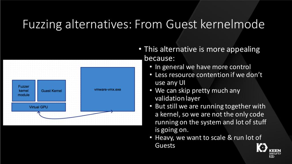 Fuzzing alternatives: From Guest kernelmode • T...