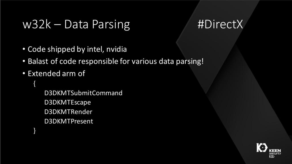 w32k – Data Parsing #DirectX • Code shipped by ...