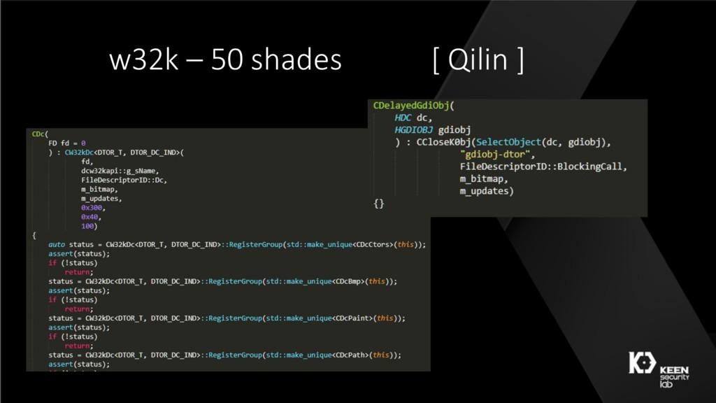 w32k – 50 shades [ Qilin ]