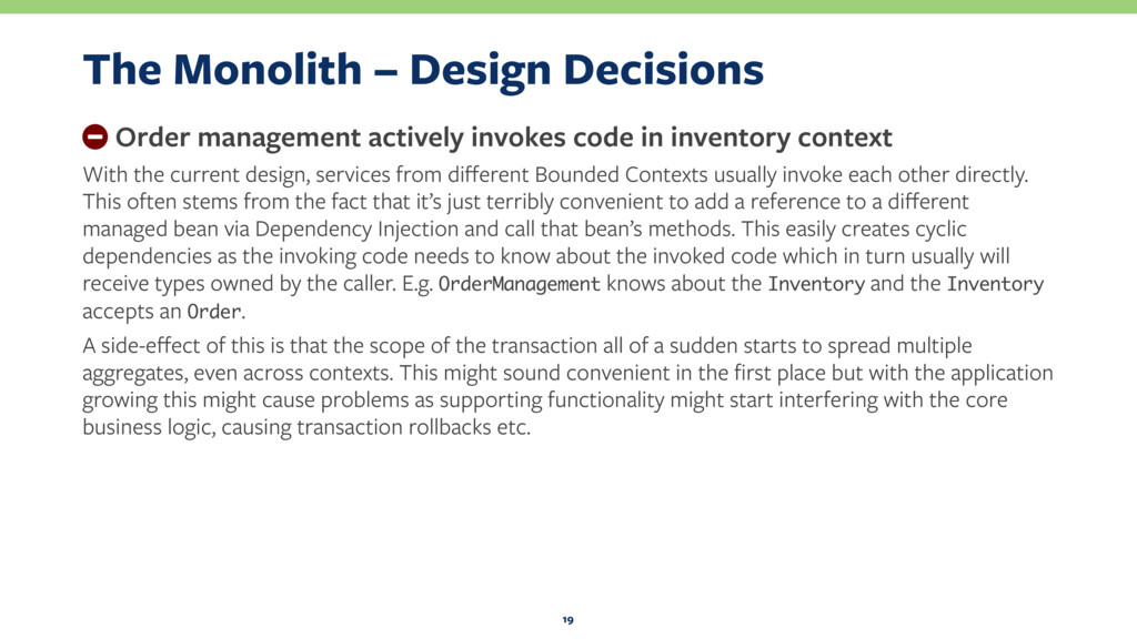 The Monolith – Design Decisions − Order managem...