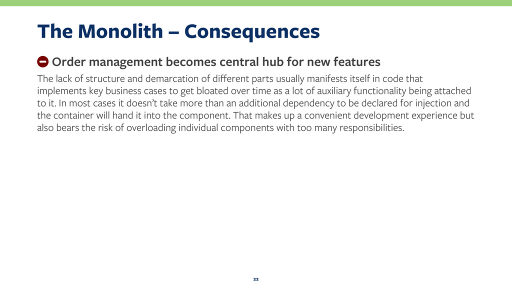 The Monolith – Consequences − Order management ...