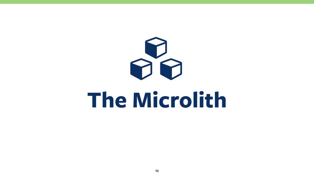 The Microlith 23 Ɨ Ɨ Ɨ