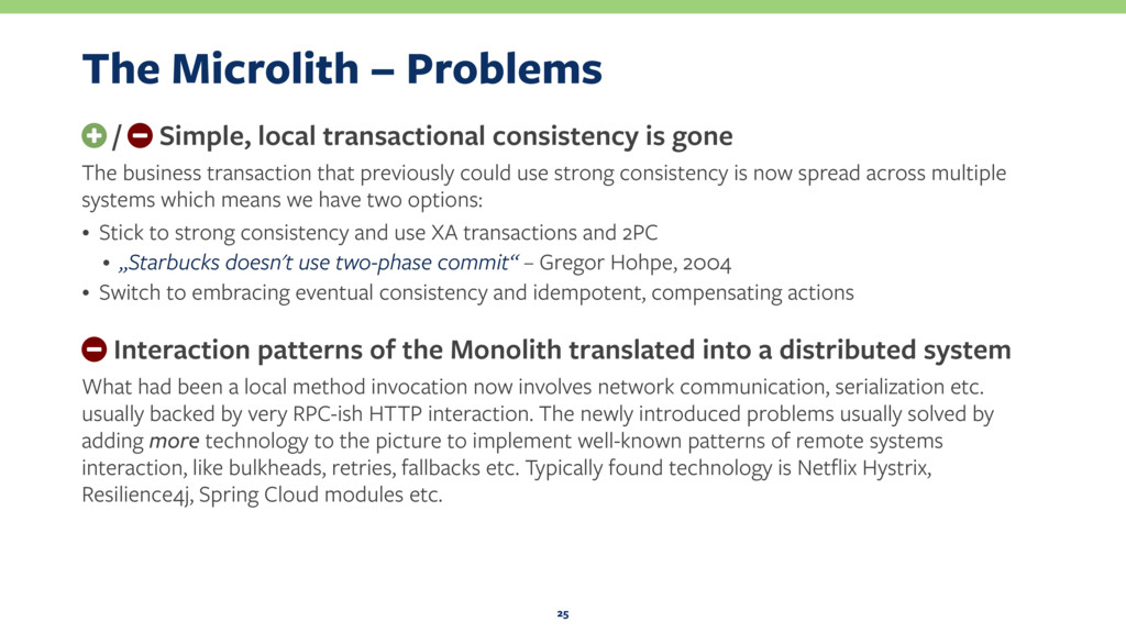 The Microlith – Problems + / − Simple, local tr...