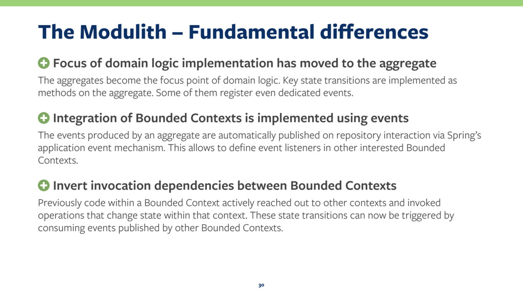 The Modulith – Fundamental differences + Focus o...