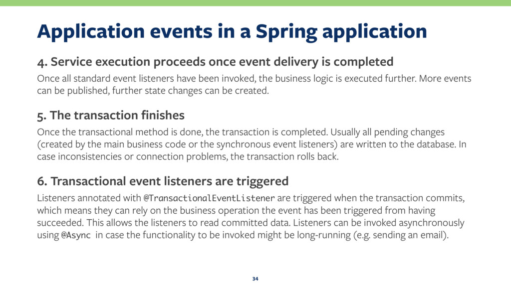 Application events in a Spring application 4. S...