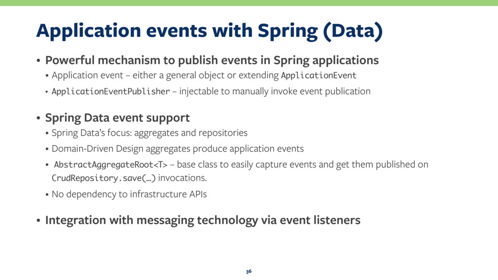 Application events with Spring (Data) • Powerfu...