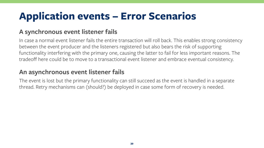 Application events – Error Scenarios A synchron...