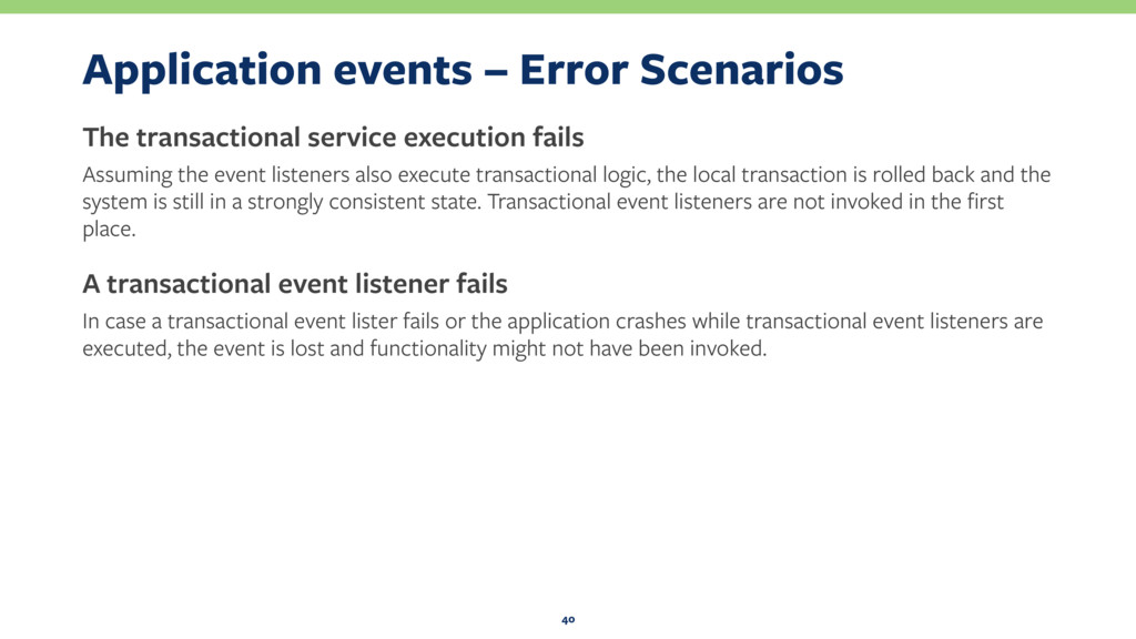 Application events – Error Scenarios The transa...