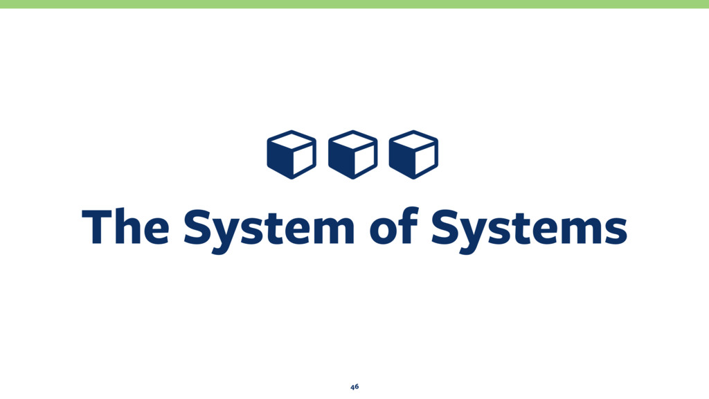 The System of Systems 46 Ɨ ƗƗ