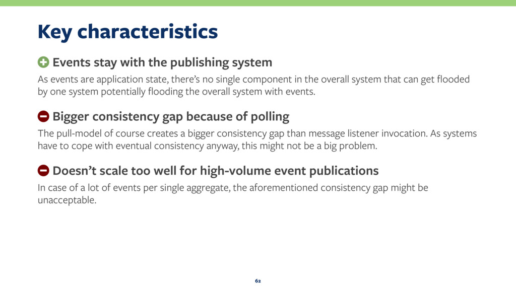Key characteristics + Events stay with the publ...