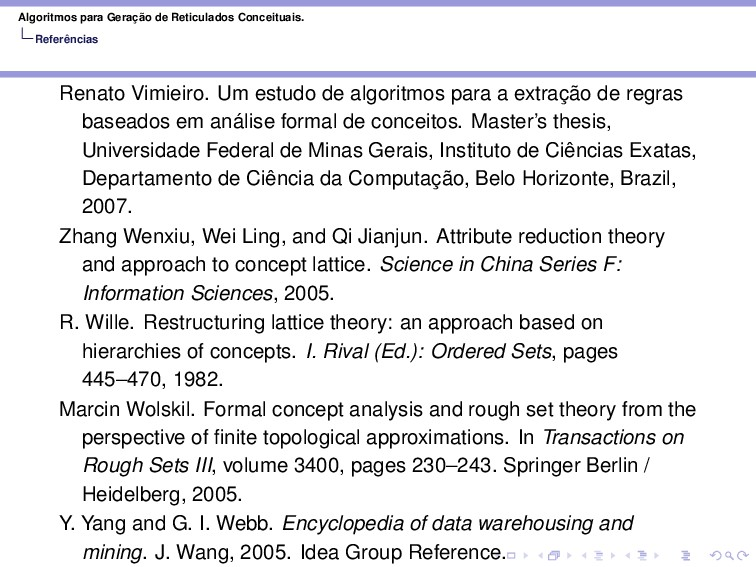 Algoritmos para Geração de Reticulados Conceitu...