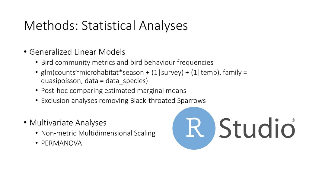 Methods: Statistical Analyses • Generalized Lin...