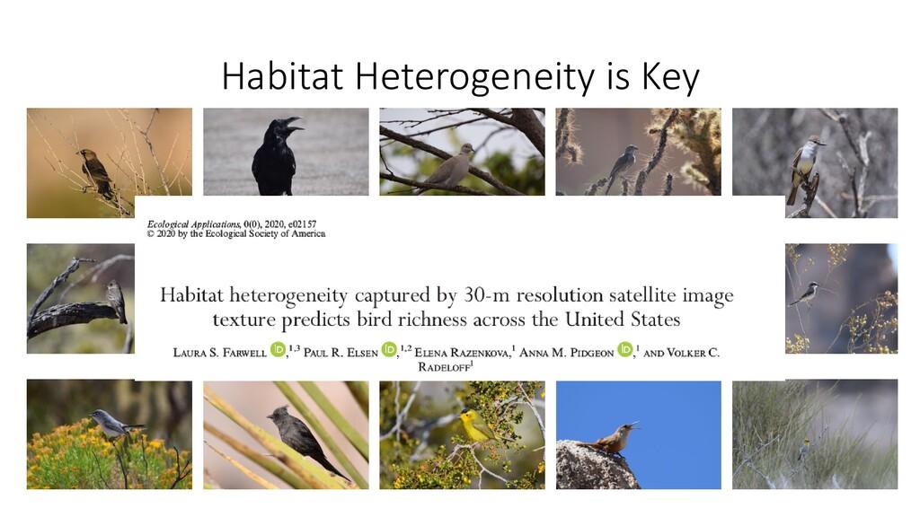 Habitat Heterogeneity is Key