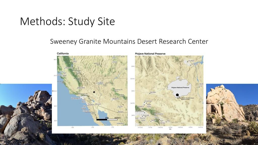 Methods: Study Site Sweeney Granite Mountains D...