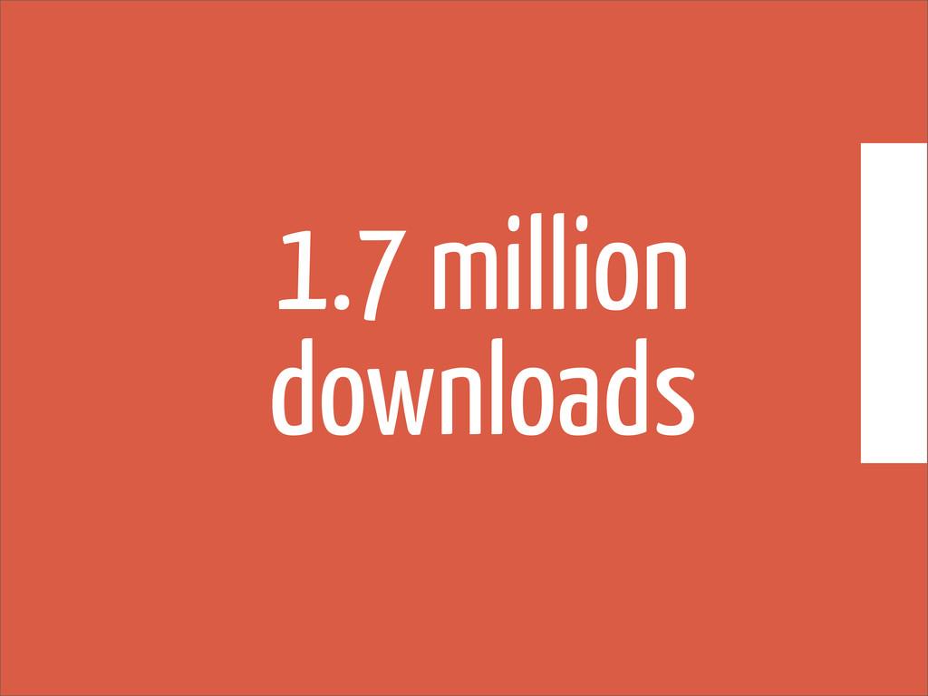 1.7 million downloads