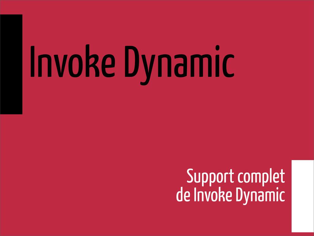 Invoke Dynamic Support complet de Invoke Dynamic