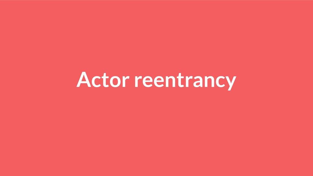 Actor reentrancy
