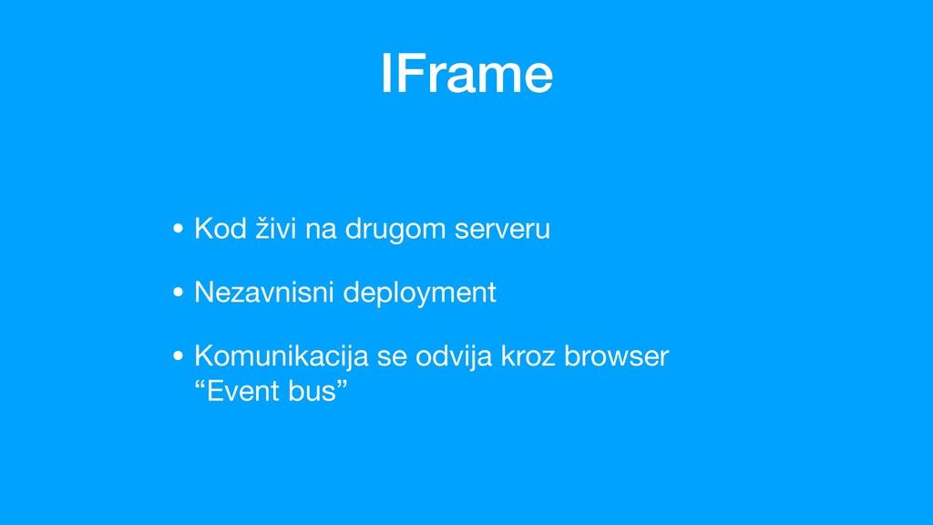 IFrame • Kod živi na drugom serveru  • Nezavnis...